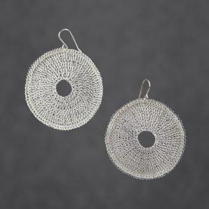French knitting wire crochet earrings